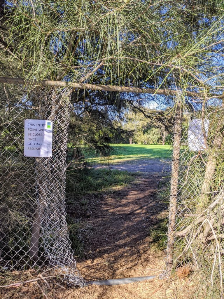 Entry to the golf course